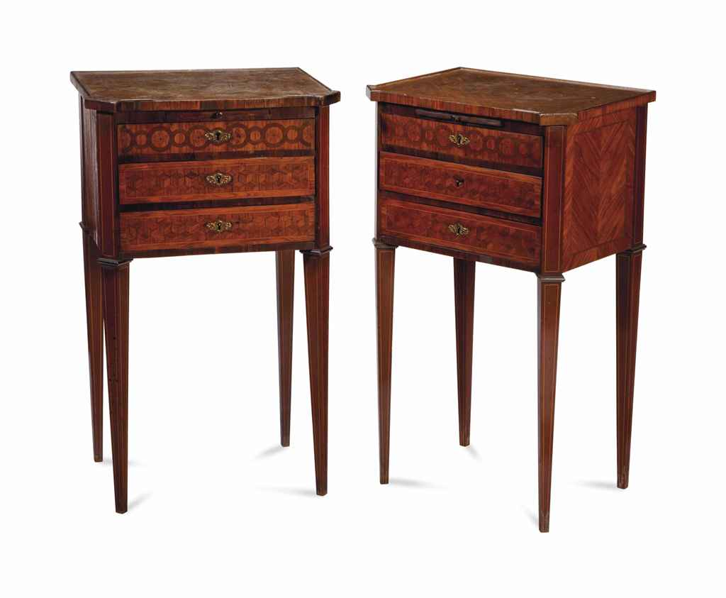 A PAIR OF LOUIS XVI STYLE KING