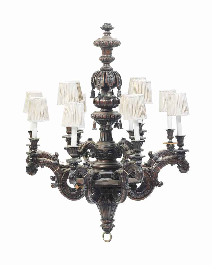 A BAROQUE STYLE STAINED WOOD T