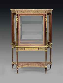 a french ormolu mounted mahogany vitrine cabinet. Black Bedroom Furniture Sets. Home Design Ideas