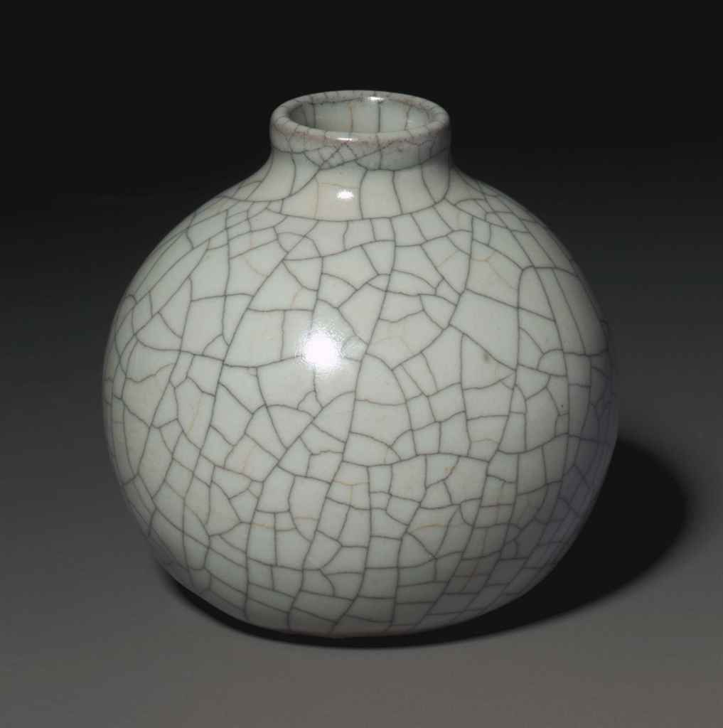 AN EXQUISITE AND EXCEPTIONALLY RARE GEYAO WATER POT