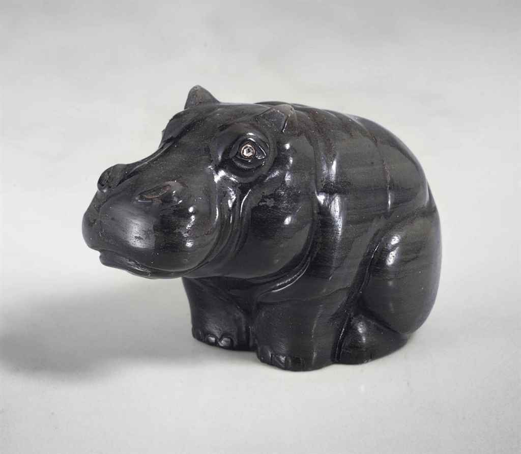 AN OBSIDIAN MODEL OF A HIPPOPO