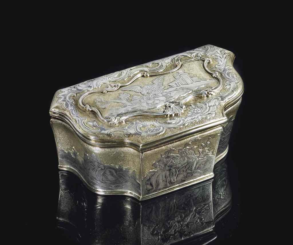 A PARCEL-GILT SILVER AND NIELL