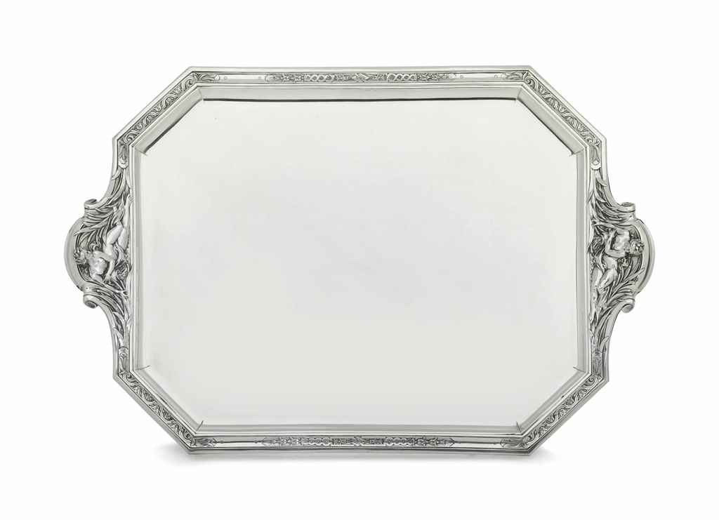 A LARGE FRENCH SILVER TRAY
