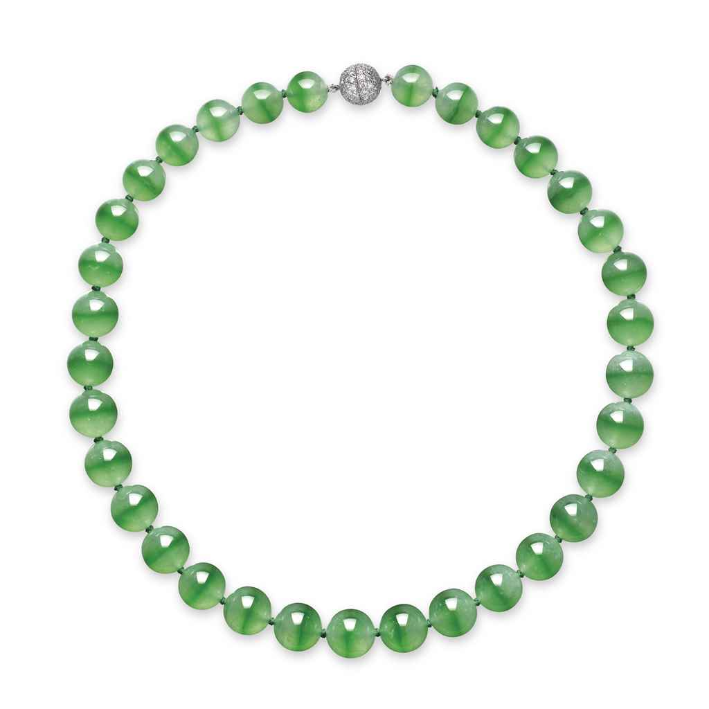 a unique jadeite bead and necklace christie s
