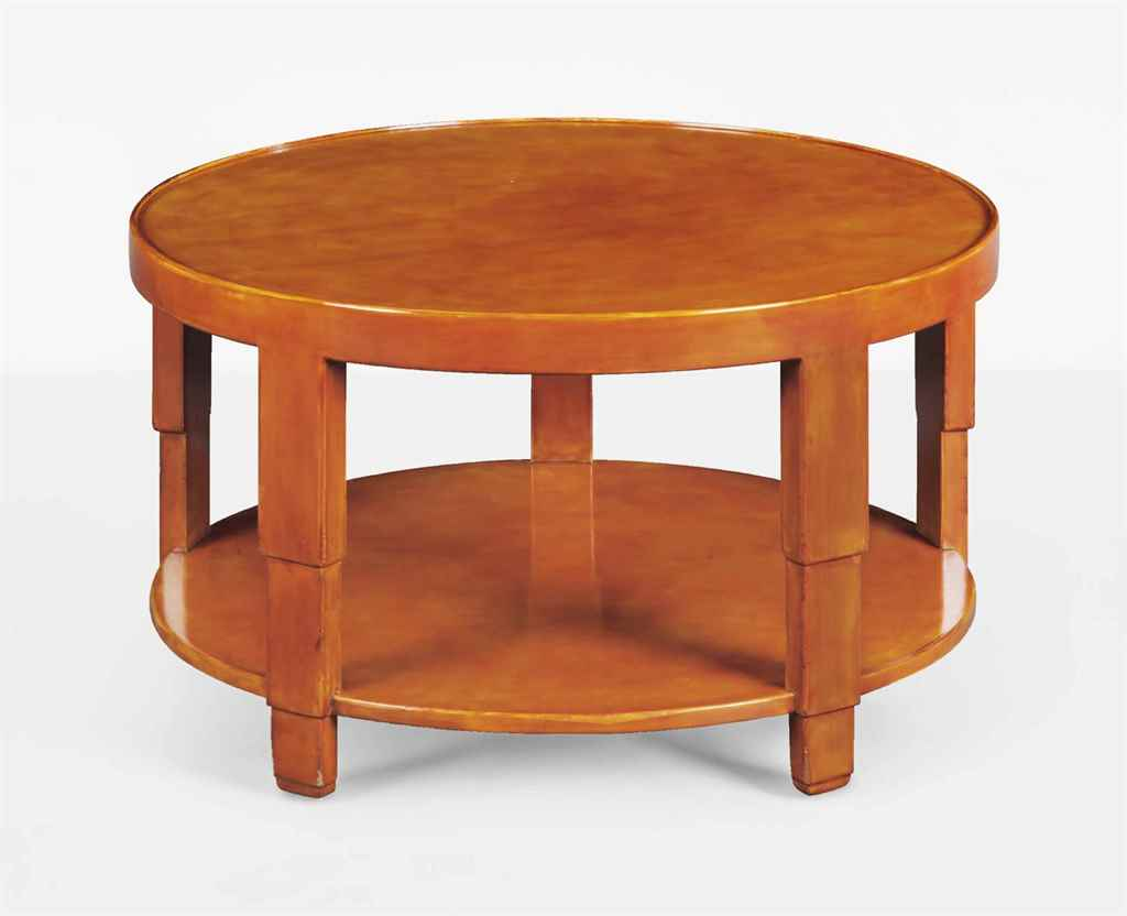 jean dunand 1877 1942 table basse circulaire a deux plateaux le modele cree vers 1925. Black Bedroom Furniture Sets. Home Design Ideas