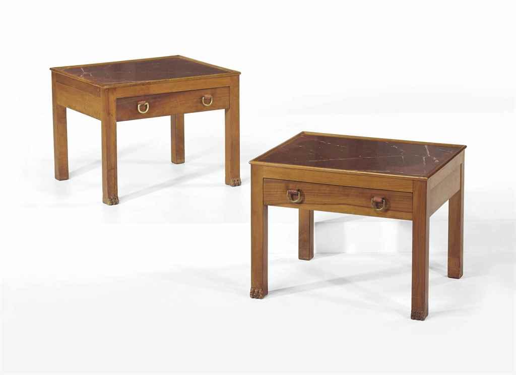 paul dupre lafon 1900 1971 paire de tables de chevet 1952 christie 39 s. Black Bedroom Furniture Sets. Home Design Ideas