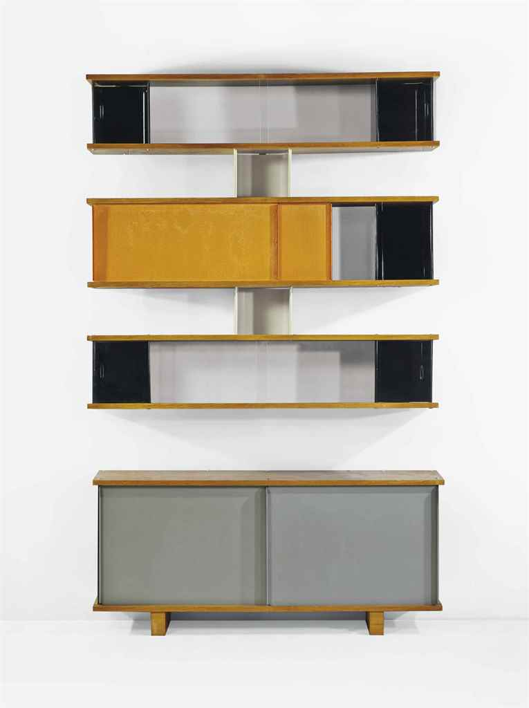 charlotte perriand 1903 1999 bibliotheque a plots et. Black Bedroom Furniture Sets. Home Design Ideas