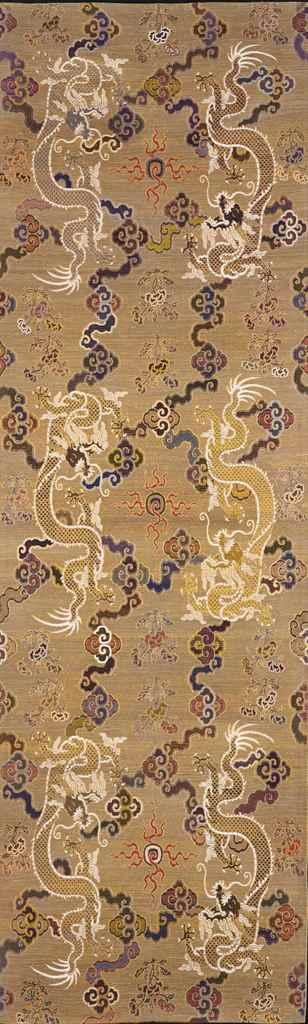 panneau mural en brocart de soie sur fond or chine