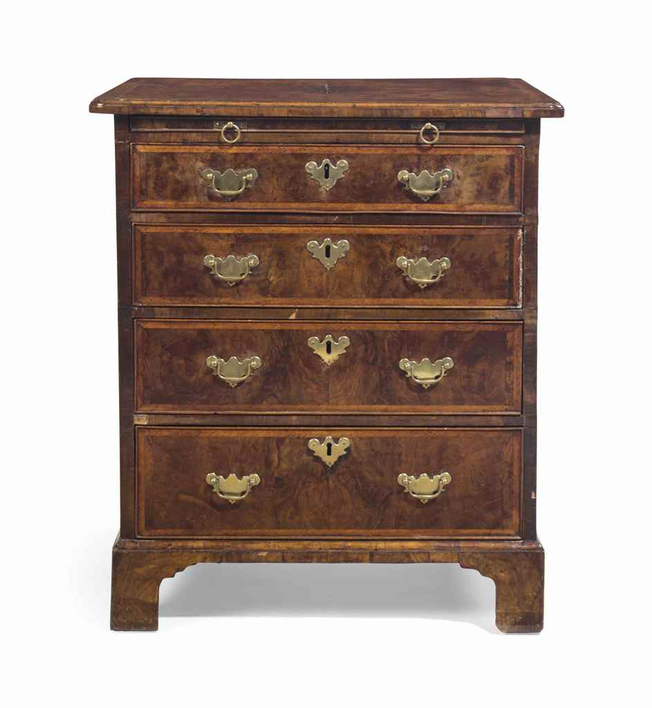 A GEORGE II WALNUT BACHELOR'S