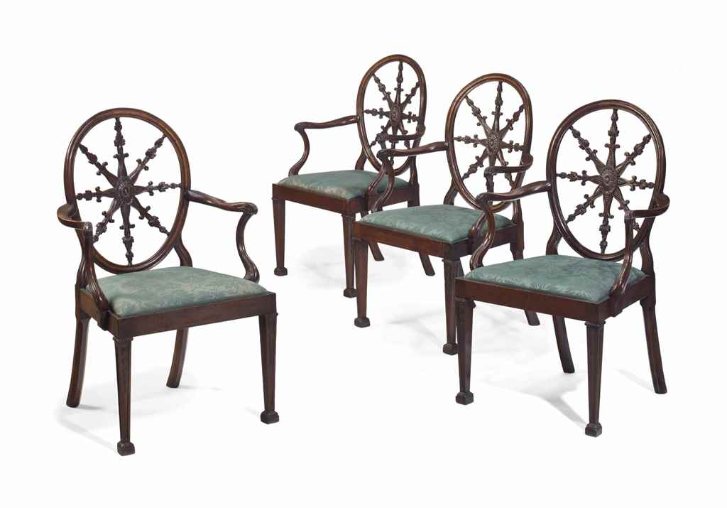 A SET OF FOUR ENGLISH SOLID MA
