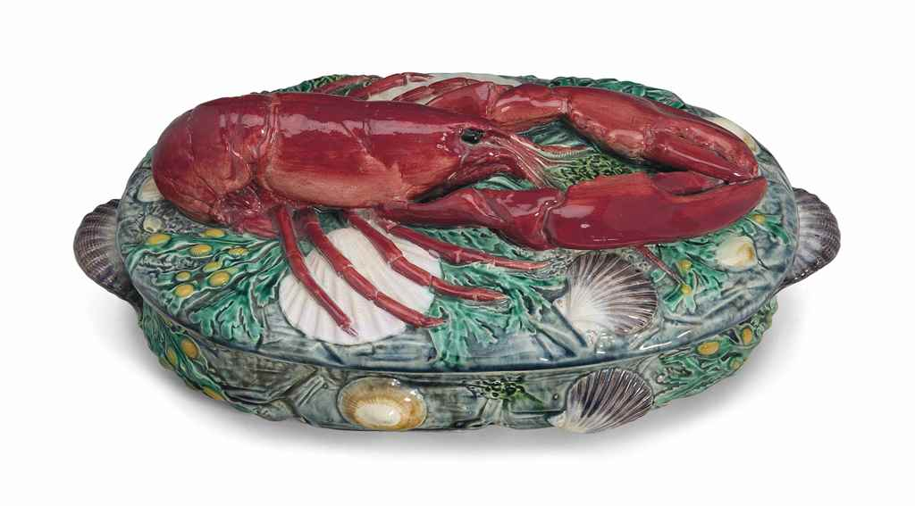 A MINTONS MAJOLICA LOBSTER-FOR