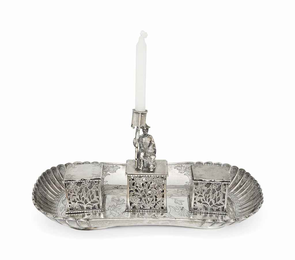 A VICTORIAN CHINOISERIE SILVER