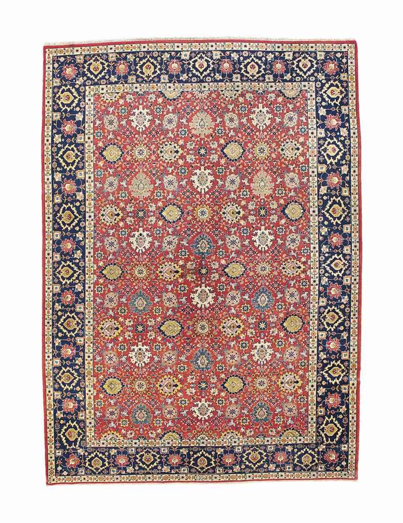 An unusual fine Tabriz carpet