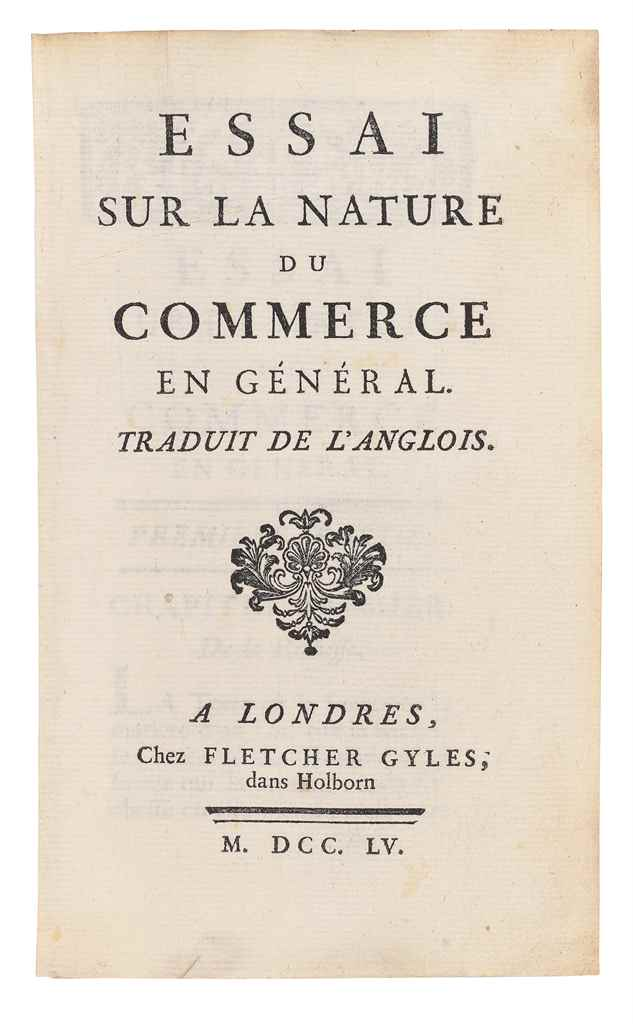 Richard cantillon essay on the nature of commerce in general.