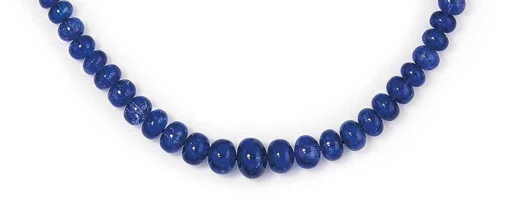 a tanzanite bead necklace christie s
