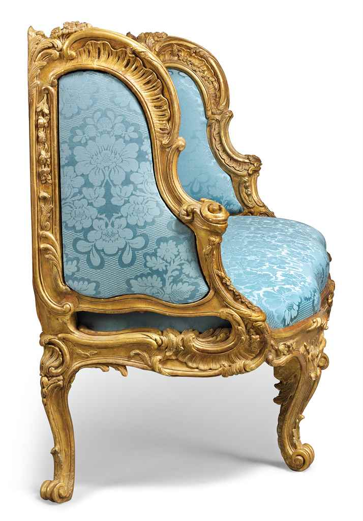 a louis xv giltwood canape a oreilles by nicolas. Black Bedroom Furniture Sets. Home Design Ideas