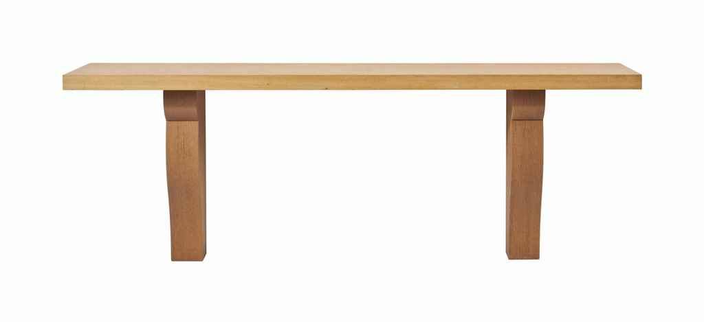 AN OAK CONSOLE TABLE,