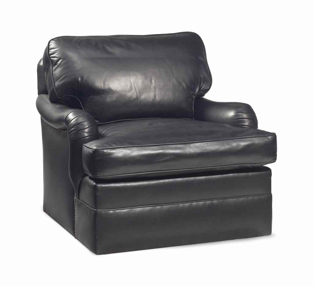 Picture of: A Black Leather Swivel Club Chair Auctions Price Archive
