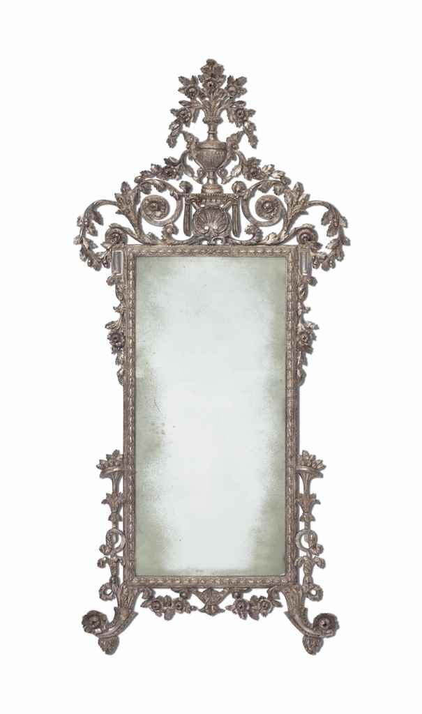 A SILVERED WOOD LOUIS XV STYLE
