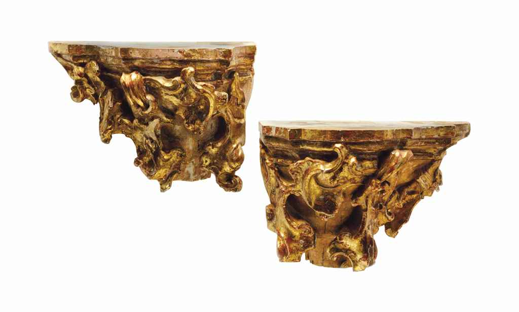 PAIR OF BAROQUE STYLE GILTWOOD