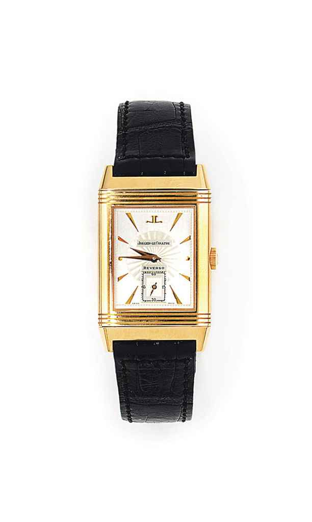 An 18ct pink gold 'Reverso' wristwatch, by Jaeger-LeCoultre,...