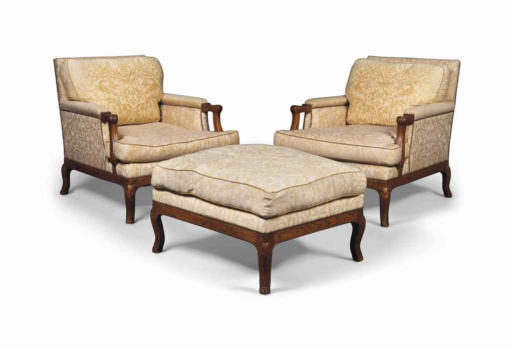 A PAIR OF FRENCH ASH ARMCHAIRS