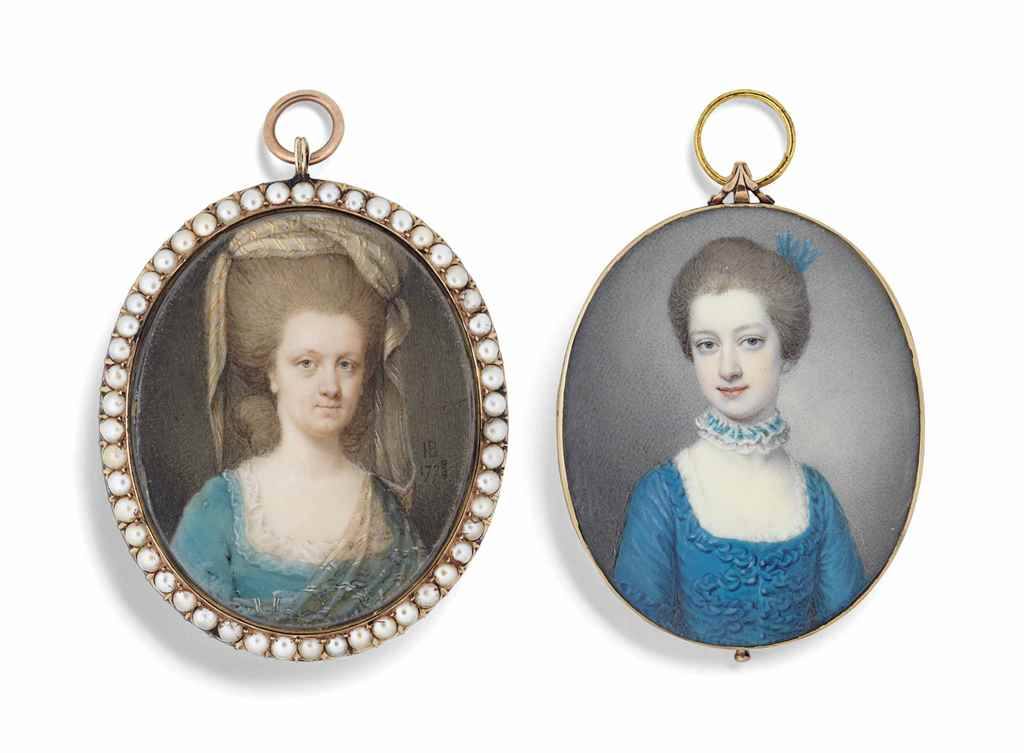 TWO PORTRAIT MINIATURES OF LAD