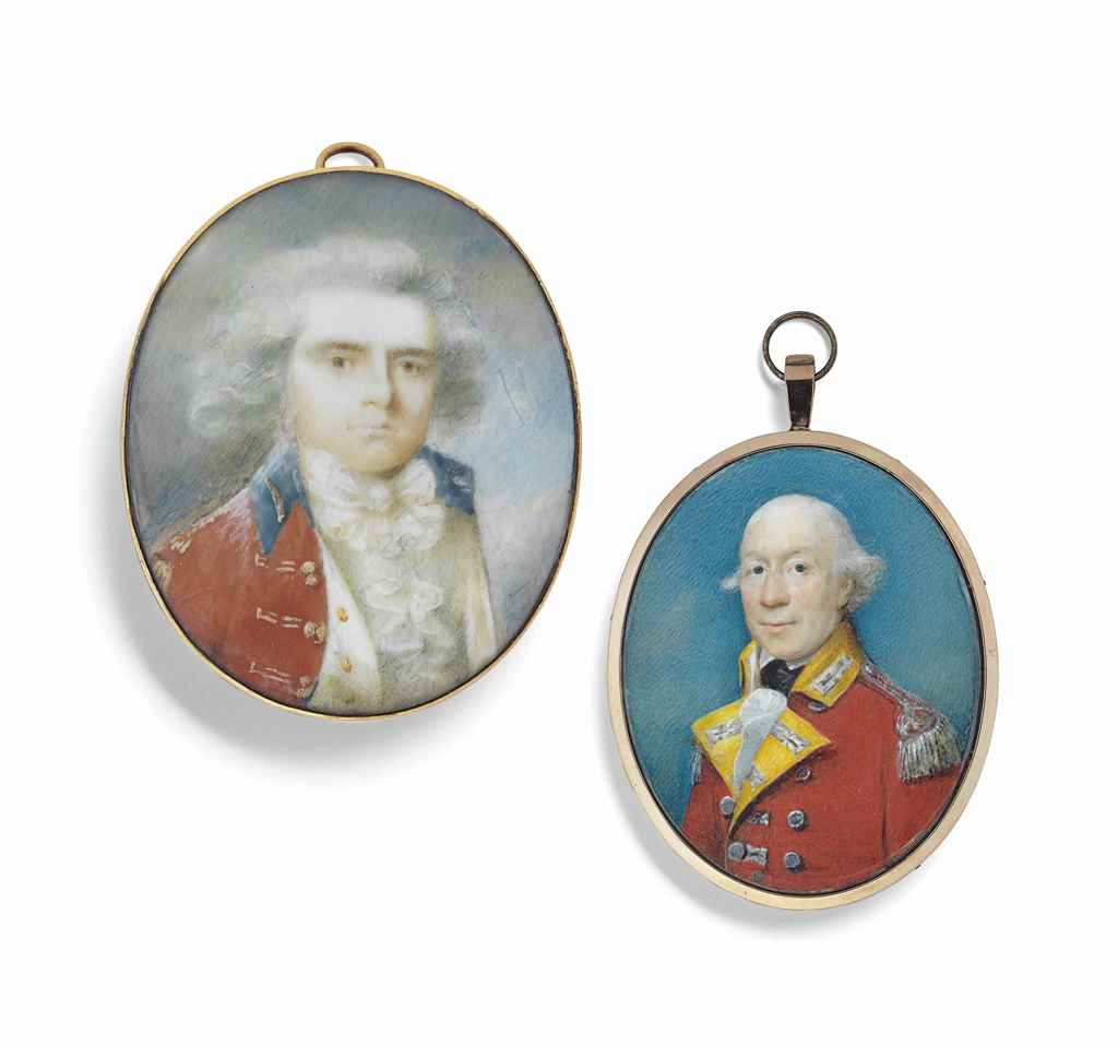 TWO PORTRAIT MINIATURES OF OFF
