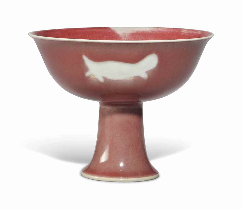 A CHINESE COPPER RED-GLAZED ST
