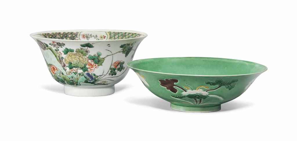 A CHINESE FAMILLE VERTE BOWL A