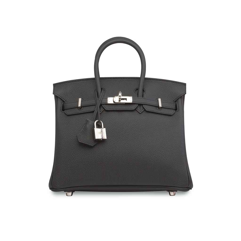 A PLOMB TOGO LEATHER BIRKIN 25 WITH PALLADIUM HARDWARE