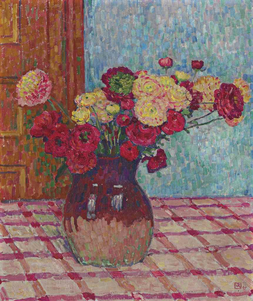 theo van rysselberghe 1862 1926 vase de fleurs renoncules christie 39 s. Black Bedroom Furniture Sets. Home Design Ideas