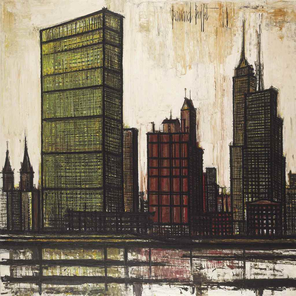 "Bernard Buffet (1928-1999) , New York ""O.N.U."" 