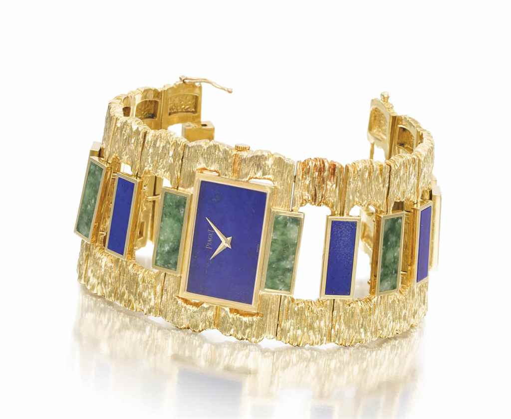 Piaget A very unusual and attractive 18K gold, lapis lazuli ...