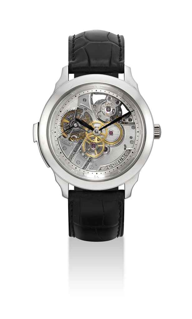 CORUM A FINE AND EXTREMELY RARE PLATINUM LIMITED EDITION SEM...