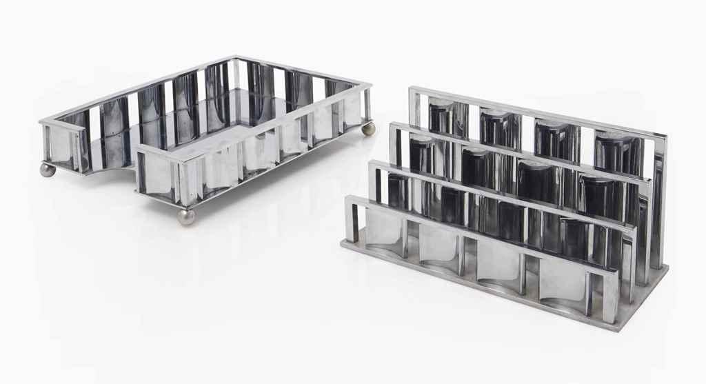 jacques adnet 1901 1984 porte lettres et casier. Black Bedroom Furniture Sets. Home Design Ideas