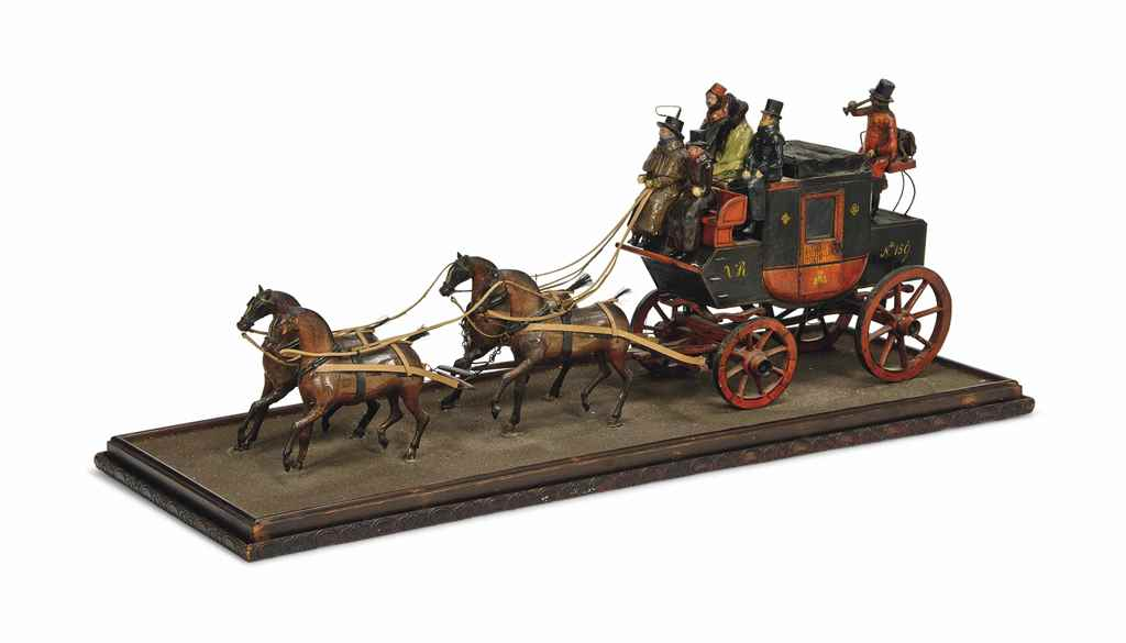 A VICTORIAN PAINTED WOOD MODEL