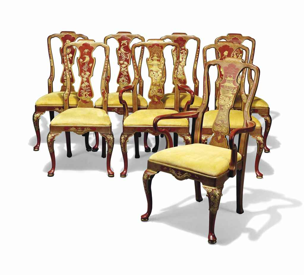 A Set Of Eight American Dining Chairs By Henredon North