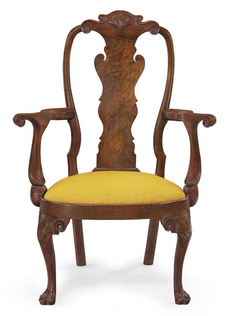 Queen anne chair history - A Rare And Important Queen Ann