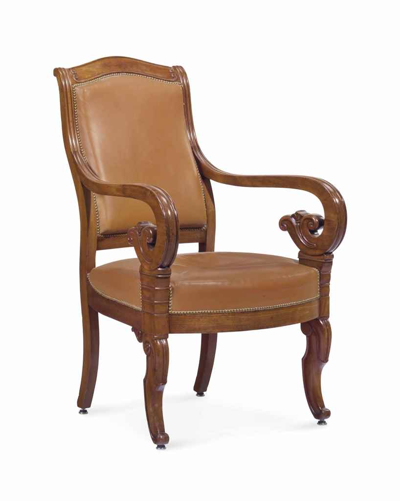 a louis philippe mahogany fauteuil second quarter 19th century christie s
