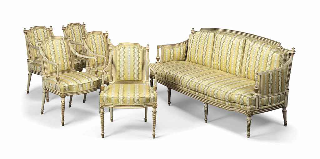 A french parcel gilt six piece salon suite late 19th for 212 salon st louis