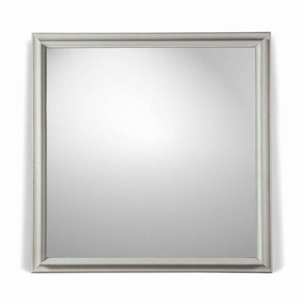 a large square mirror by riccardo giaccherini ltd