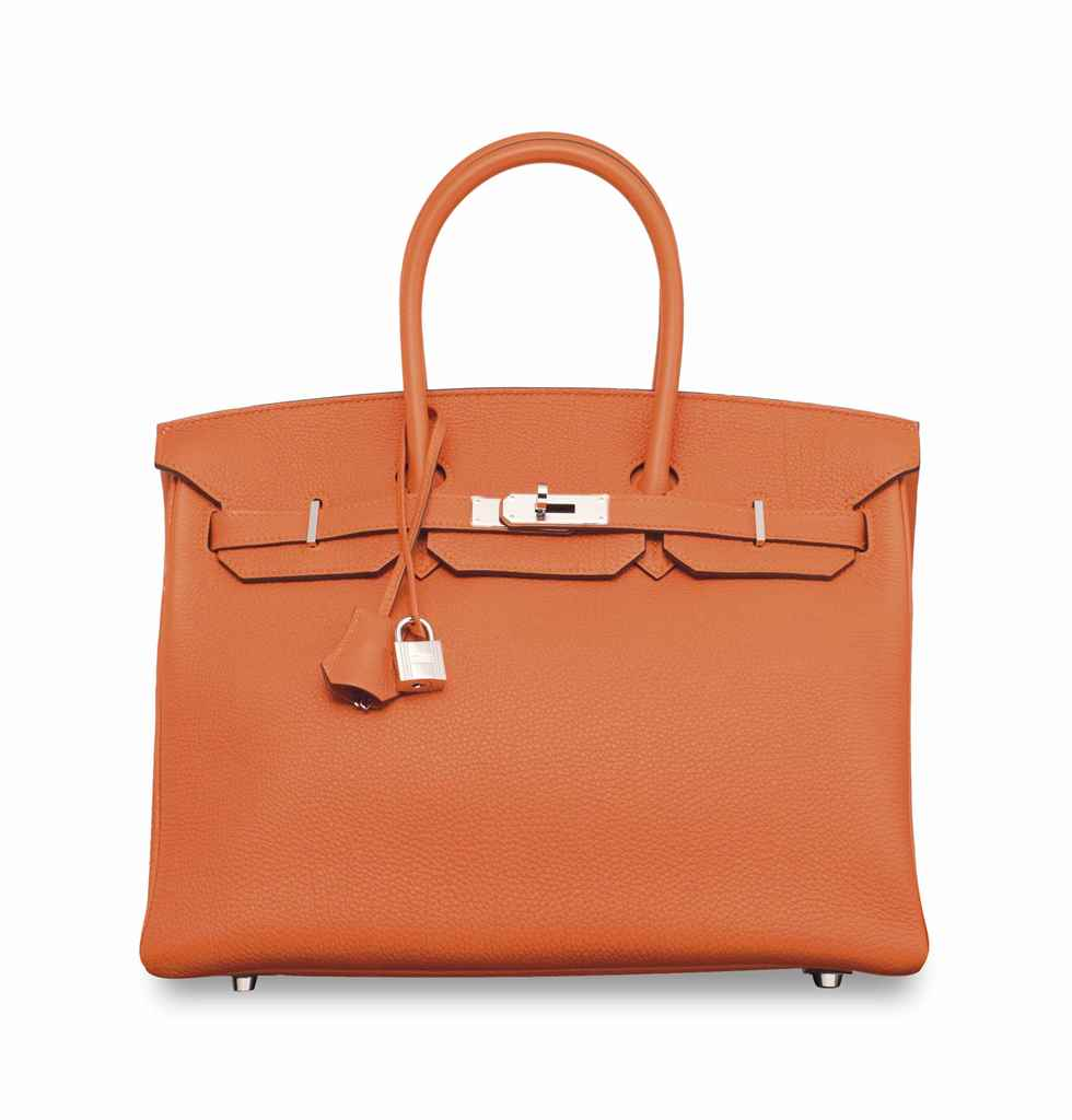AN ORANGE TOGO LEATHER BIRKIN