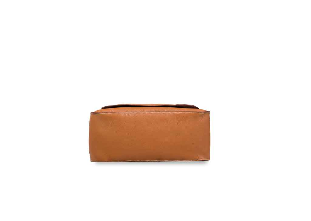 HERMÈS, A GOLD TOGO LEATHER JY