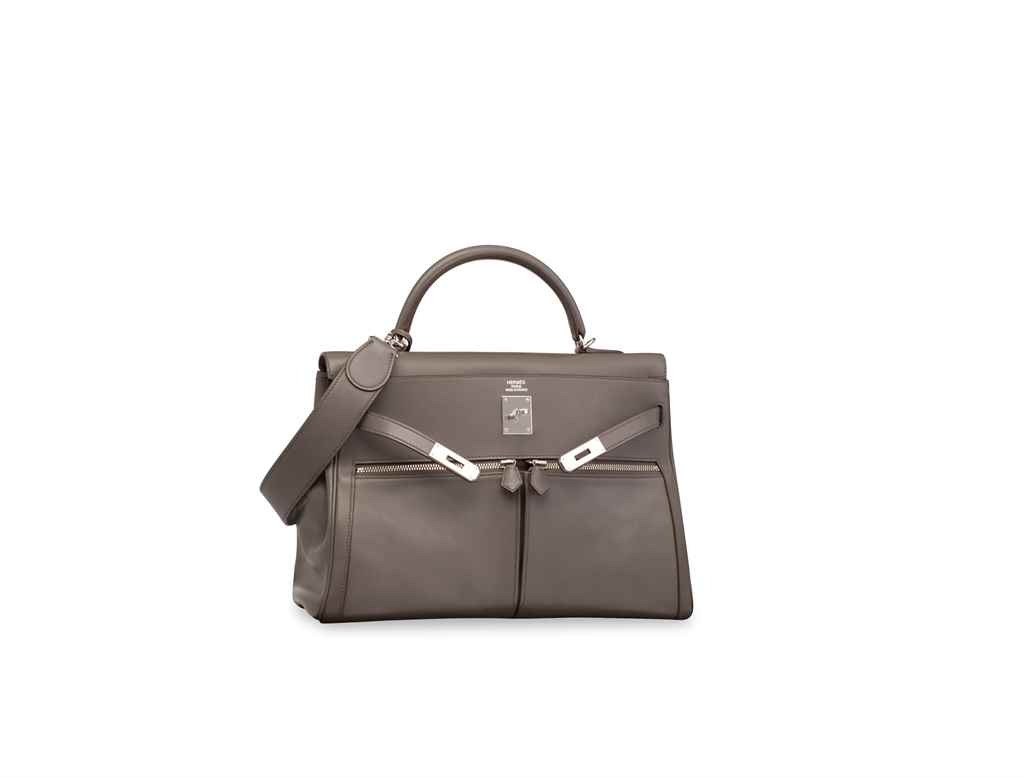 HERMÈS. AN ÉTAIN SWIFT LEATHER