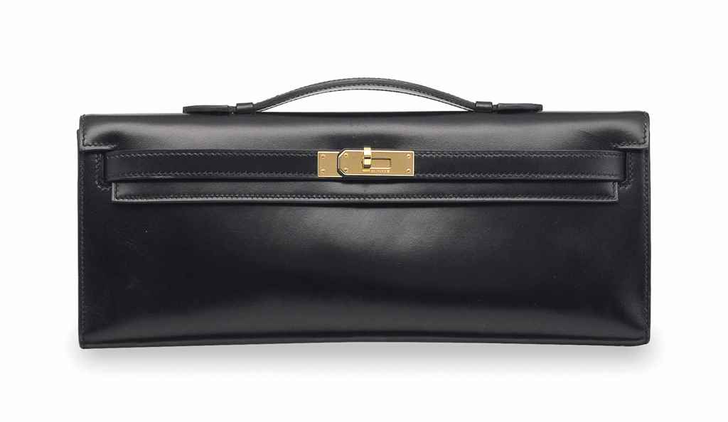 A BLACK CALF BOX LEATHER KELLY