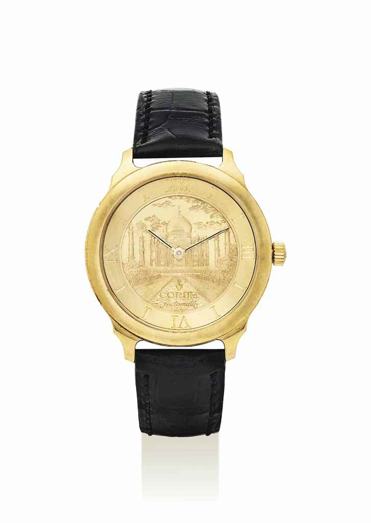 CORUM. A RARE 18K GOLD LIMITED