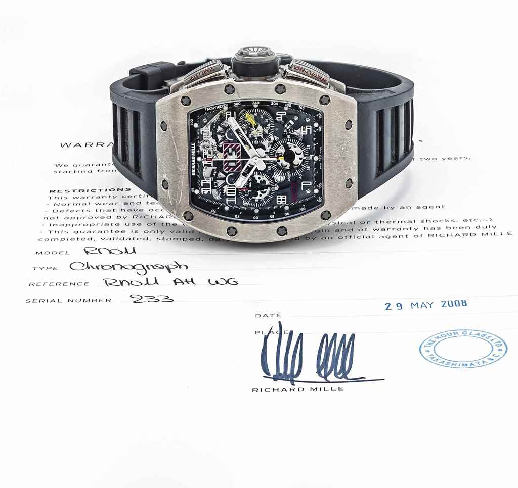 RICHARD MILLE. A VERY FINE 18K