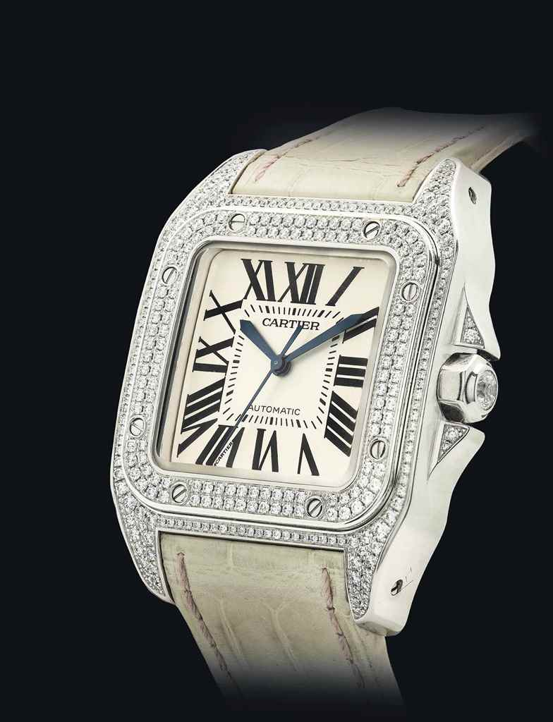 CARTIER. A VERY FINE 18K WHITE