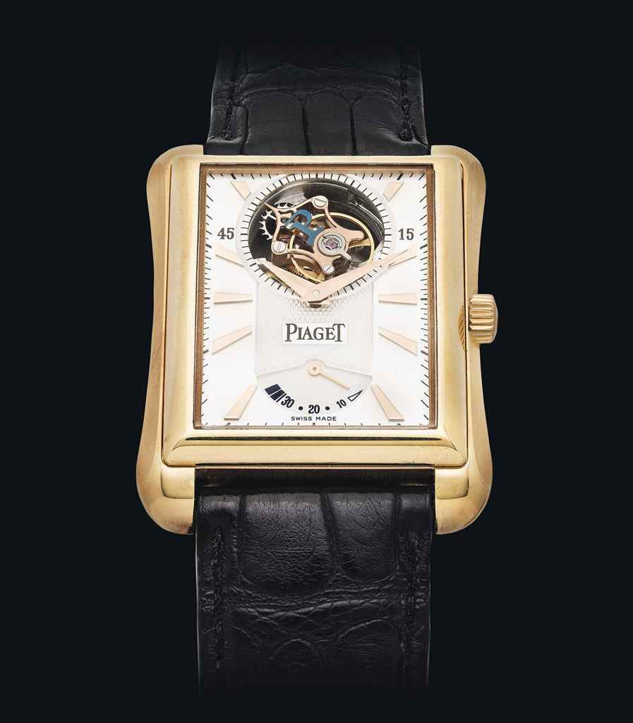PIAGET. A FINE AND RARE 18K PI